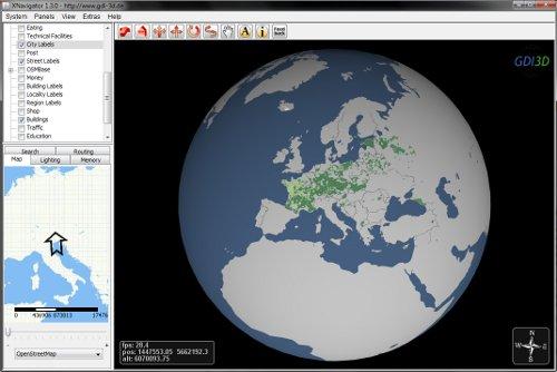 OpenStreetMap Globe Webstart en
